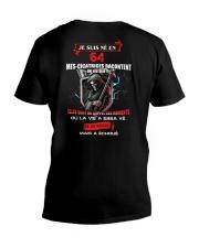 je suis ne en 64 V-Neck T-Shirt thumbnail