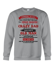 crazy dad august Crewneck Sweatshirt thumbnail