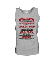 crazy dad august Unisex Tank thumbnail