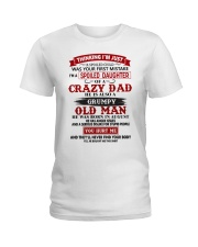 crazy dad august Ladies T-Shirt tile