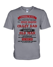 crazy dad august V-Neck T-Shirt tile