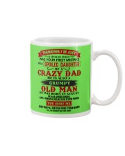 crazy dad august Mug tile
