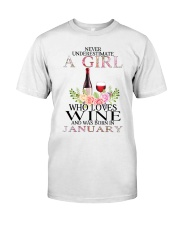 january who loves wine Classic T-Shirt tile
