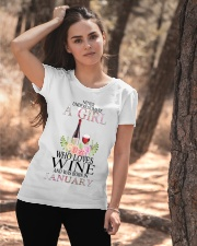 january who loves wine Ladies T-Shirt apparel-ladies-t-shirt-lifestyle-06
