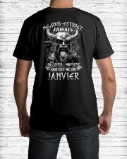 janvier jamais Classic T-Shirt lifestyle-mens-crewneck-back-1