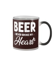 beer never broke my heart Color Changing Mug thumbnail