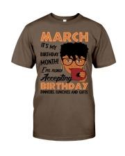 march birthday Classic T-Shirt thumbnail