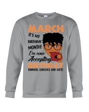 march birthday Crewneck Sweatshirt thumbnail