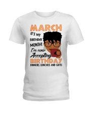 march birthday Ladies T-Shirt front