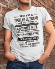yes i'm a spoiled husband february Classic T-Shirt apparel-classic-tshirt-lifestyle-26