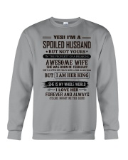 yes i'm a spoiled husband february Crewneck Sweatshirt thumbnail