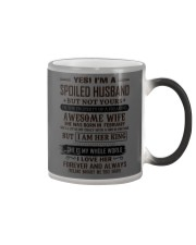 yes i'm a spoiled husband february Color Changing Mug thumbnail