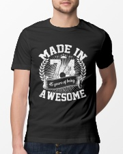 made in 74 awesome Classic T-Shirt lifestyle-mens-crewneck-front-13