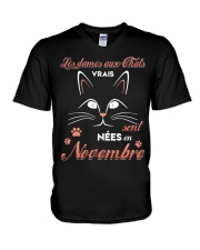 nees novenbre V-Neck T-Shirt tile