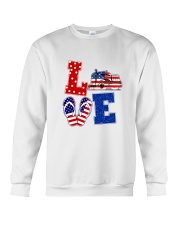 trucker love Crewneck Sweatshirt thumbnail