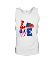 trucker love Unisex Tank tile
