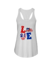 trucker love Ladies Flowy Tank thumbnail