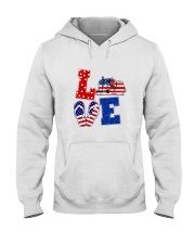 trucker love Hooded Sweatshirt thumbnail