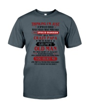 crazy dad born in agust Classic T-Shirt thumbnail