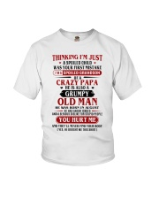 crazy dad born in agust Youth T-Shirt thumbnail