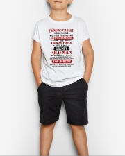 crazy dad born in agust Youth T-Shirt lifestyle-youth-tshirt-front-1