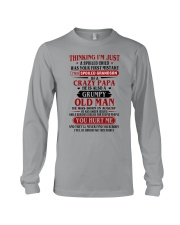 crazy dad born in agust Long Sleeve Tee thumbnail