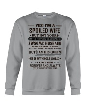spoiled wife october Crewneck Sweatshirt thumbnail