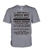 spoiled wife october V-Neck T-Shirt thumbnail