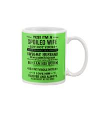 spoiled wife october Mug thumbnail