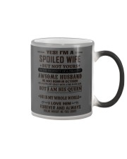 spoiled wife october Color Changing Mug thumbnail
