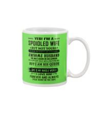 yes i'm a spoiled wife december Mug thumbnail