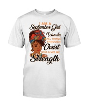 september strength girl Classic T-Shirt front