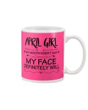 april girl my face defintely will Mug thumbnail