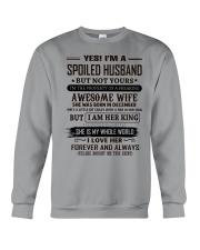 yes i'm a spoiled husband december Crewneck Sweatshirt thumbnail