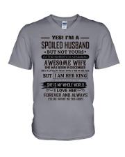 yes i'm a spoiled husband december V-Neck T-Shirt thumbnail