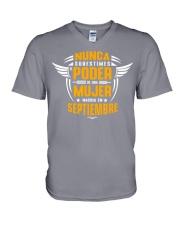 poder 9 V-Neck T-Shirt thumbnail
