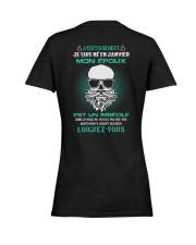 janvier mon epoux Ladies T-Shirt women-premium-crewneck-shirt-back