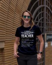 5 things teacher Ladies T-Shirt lifestyle-women-crewneck-front-2