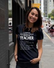 5 things teacher Ladies T-Shirt lifestyle-women-crewneck-front-5