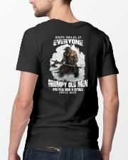 death smiles at everyone grumpy old men october Classic T-Shirt lifestyle-mens-crewneck-back-5