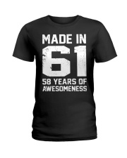 made in 61 Ladies T-Shirt front