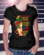 julio soy una reina Ladies T-Shirt lifestyle-women-crewneck-front-7