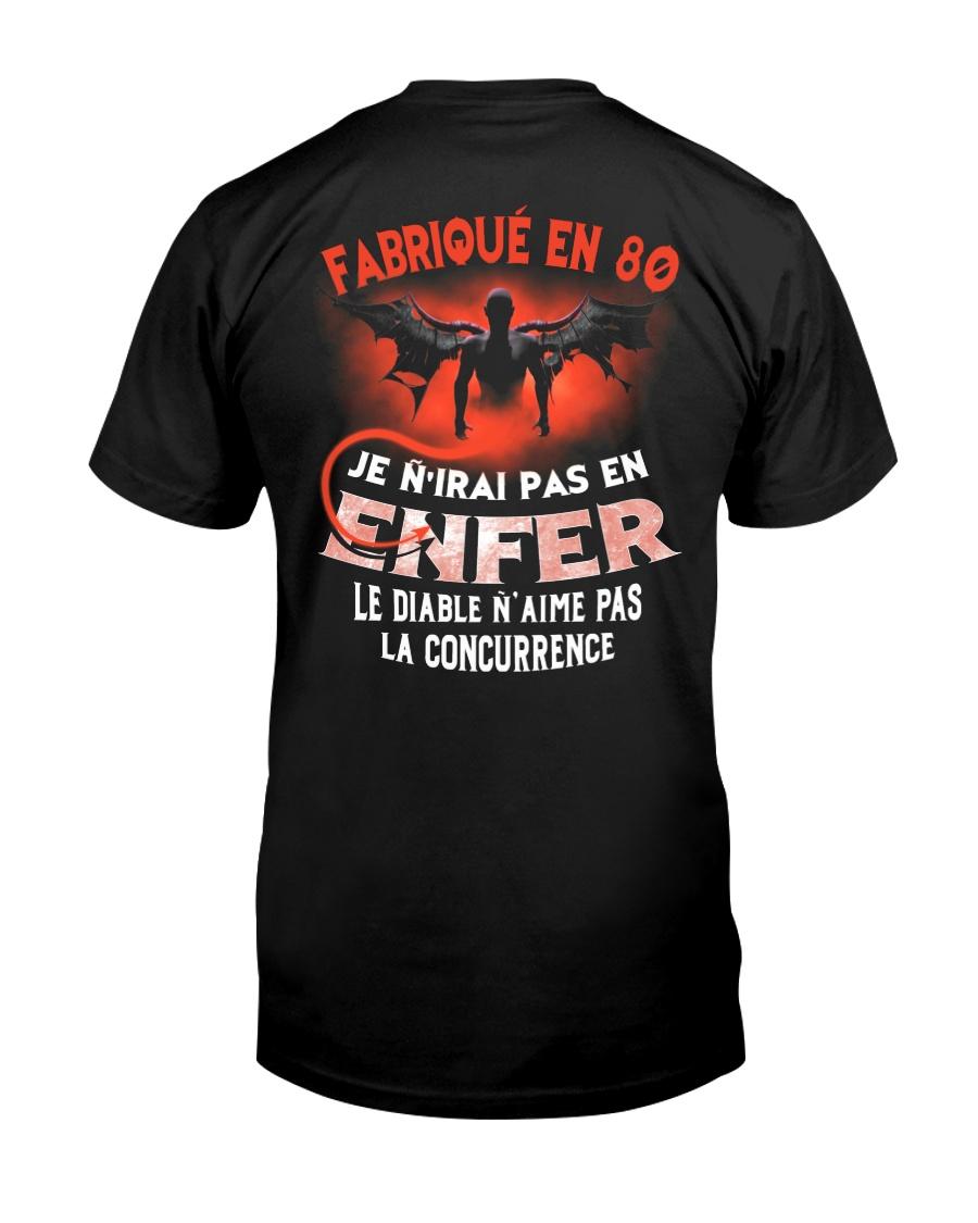 je n'irai pas en 80 Classic T-Shirt