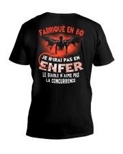 je n'irai pas en 80 V-Neck T-Shirt thumbnail