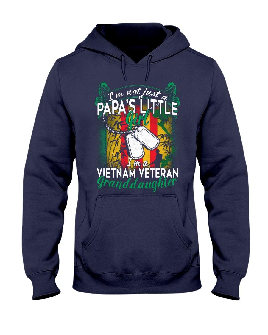 Vietnam Veteran's Papa Granddaughter Hooded Sweatshirt