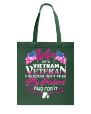 Wife Of A Vietnam Vet Tote Bag thumbnail
