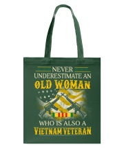 Never Underestimate An Old Woman Tote Bag thumbnail