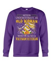 Never Underestimate An Old Woman Crewneck Sweatshirt thumbnail