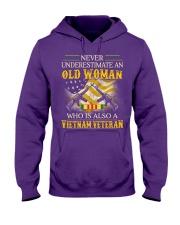 Never Underestimate An Old Woman Hooded Sweatshirt thumbnail
