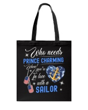In Love With A Sailor Tote Bag thumbnail